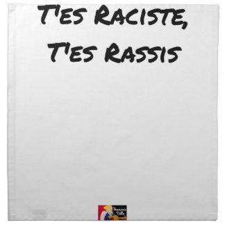 You RACIST ES, You STALE ES - Word games Napkin