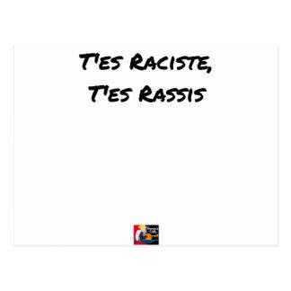 You RACIST ES, You STALE ES - Word games Postcard