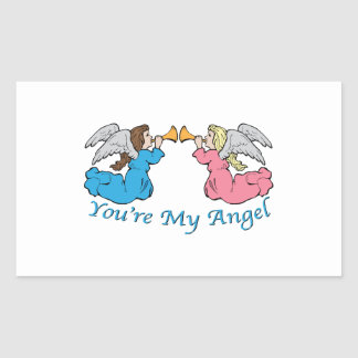 You re My Angel Rectangle Stickers