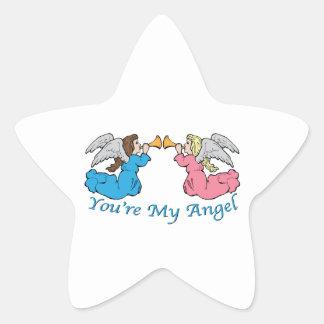 You re My Angel Star Sticker