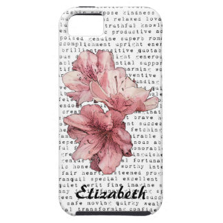 You re My Inspiration Words Typography Pink Flower iPhone 5 Covers