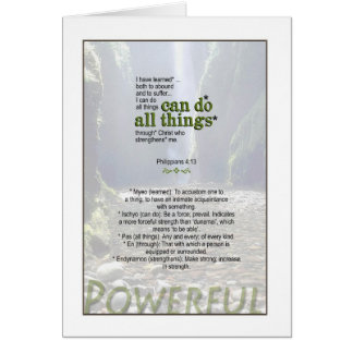You really can do anything - Philippians 4:13 Card