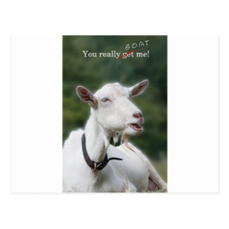 You Really Get/ Goat Me Postcard