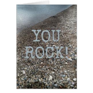 You Rock Beach Happy Birthday Shoreline Card