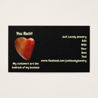 You Rock! Business Cards with Reverse Referral