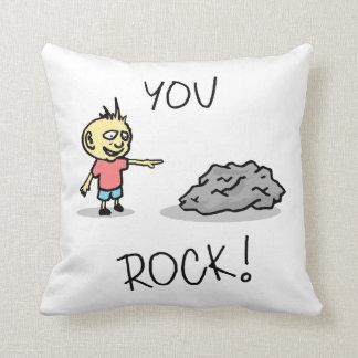 You Rock! Cartoon. Throw Pillow