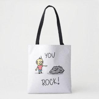 You Rock! Cartoon. Tote Bag
