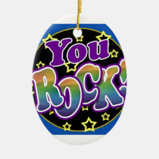 You Rock! Ceramic Ornament