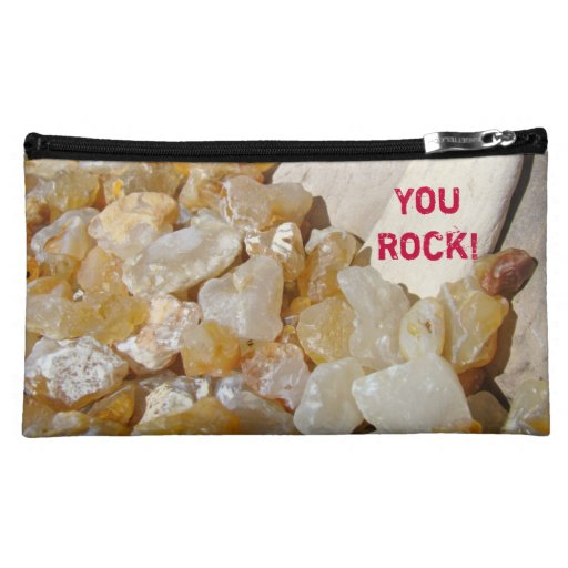 You Rock! Cosmetic Travel Bags Agates Rocks Cosmetic Bag