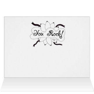 You Rock Hand Drawn Doodle Card