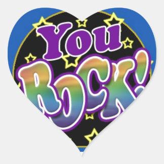 You Rock! Heart Sticker