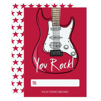 You Rock Kids Classroom Valentine Card