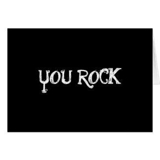 you rock notecard