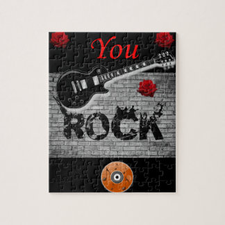 you rock red guitar kids jigsaw puzzle