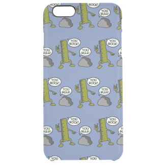 You rock, you rule clear iPhone 6 plus case