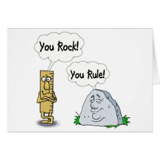 You Rock, You Rule Greeting Card