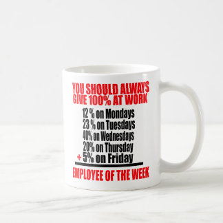 You Should Always Give 100 % At Work -- Tee Coffee Mug
