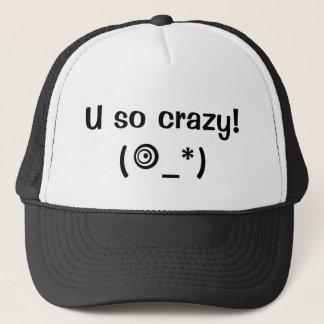 You So Crazy - Cute Emoji - Baseball Cap