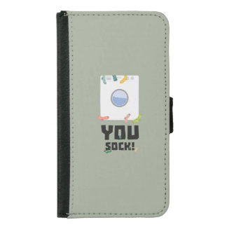 You Sock Funny Slogan Zwq53 Samsung Galaxy S5 Wallet Case