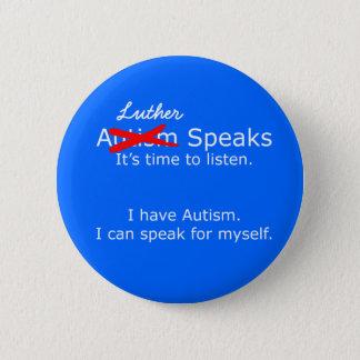 You Speak Autism Speaks Protest Button BLUE