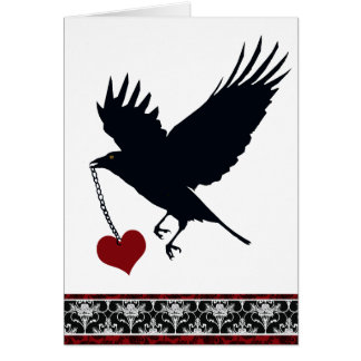 You Stole My Heart Flying Crow Card