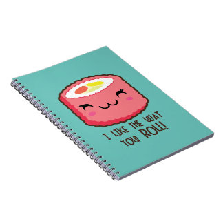 You (Sushi) Roll Spiral Notebook