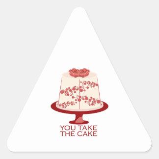You Take The Cake Triangle Sticker