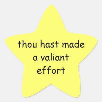 """""""You tried"""" star Star Sticker"""