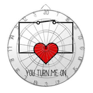 You Turn Me On Dartboard