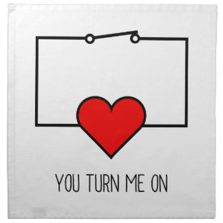 You Turn Me On Napkin