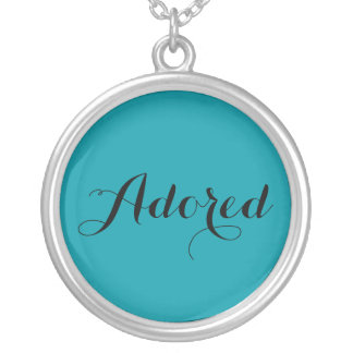 You walk in the favor of our Lord.... Silver Plated Necklace