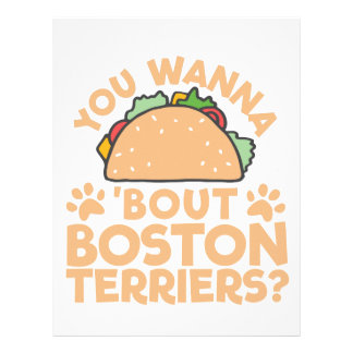 You Wanna Taco Bout Boston Terriers? Letterhead