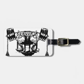 YOU WANT TO BE BIG lift and gym Luggage Tag