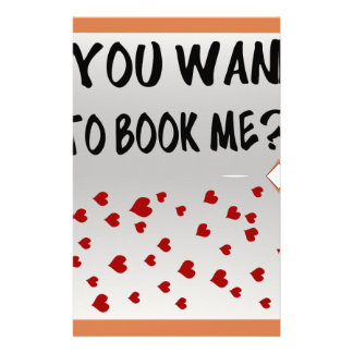 You want to book me? stationery