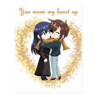 You Warm My Heart Up Postcard
