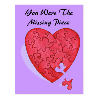 You Were The Missing Piece Postcard