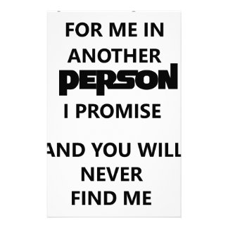 you will search for me in another person. custom stationery