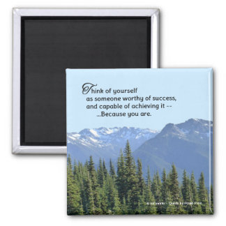 You Will Succeed...Inspirational Quote Square Magnet