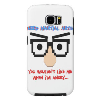 You wouldn't like me when I'm angry Nerd phonecase Samsung Galaxy S6 Cases