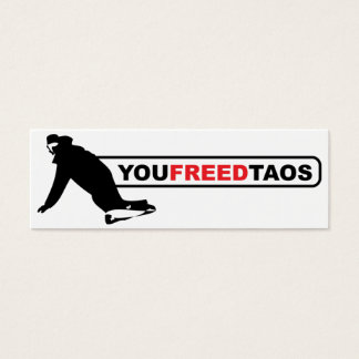 youfreedtaos skinny mini business card