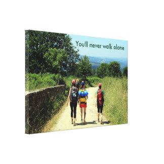 You'll never walk alone: El Camino, Spain Canvas Print