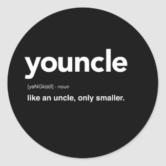 Youncle Definition Classic Round Sticker