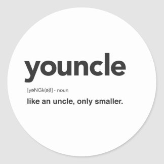 Youncle Definition Print Classic Round Sticker
