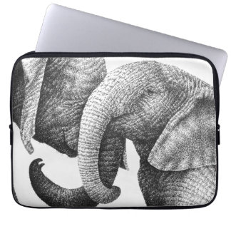 Young African Elephants Electronics Bag