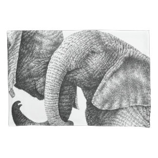 Young African Elephants Pillowcase