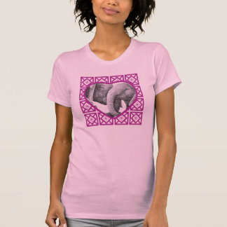 Young African Elephants Valentine Heart Ladies T-S Tshirt