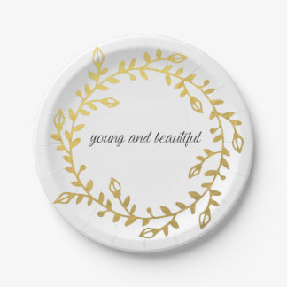 Young and beautiful paperplate for your occassion 7 inch paper plate
