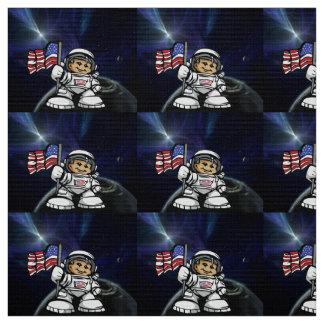 Young Astronaut in space Fabric