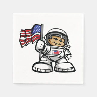 Young Astronaut in space Napkin