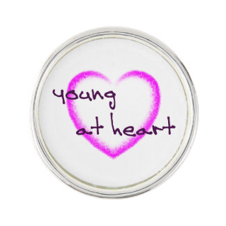 Young at heart lapel pin